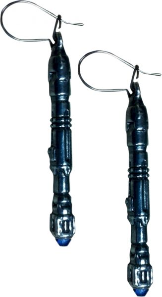 Doctor Who Pewter Earrings - 10th Doctor Sonic Screwdriver