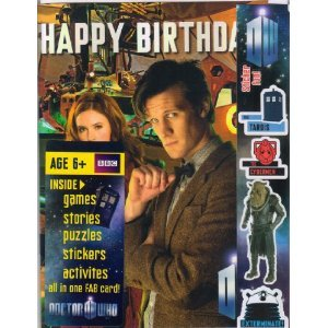 Doctor Who New Matt Smith/Amy Pond Comic Birthday Cards - No Vat Item