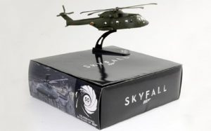 James Bond 007 Skyfall - AW101 Agusta Westland Die Cast - 1:100 Scale