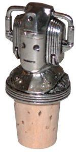 Doctor Who Cyberman Pewter Bottlestopper