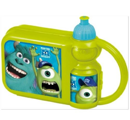 Official Disney Monsters University Lunch Box & Sports Bottle Combo