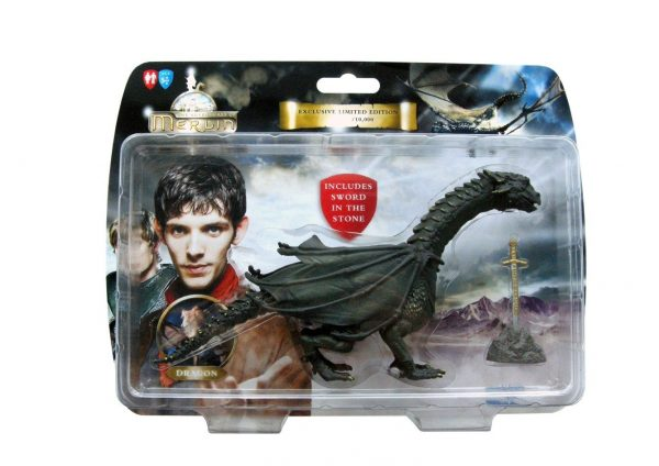 Merlin Dragon Action Figure With 'sword In Stone' Limited Edition