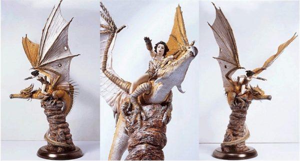 Achilleos Dragon Statue