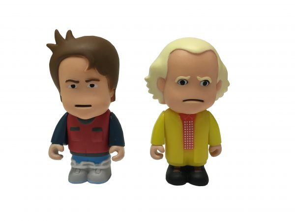 Back to the Future Charicature 2015 Set Marty & Doc Brown