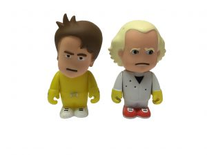 Back to the Future Charicature 1985 Set Marty & Doc Brown