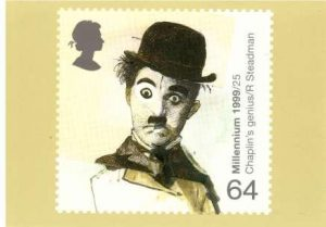 Charlie Chaplin PHQ 208 Postcard - Drawn by Ralph Steadman