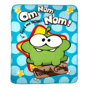 Cut The Rope Om Nom Fleece Blanket 120 x 150Cm