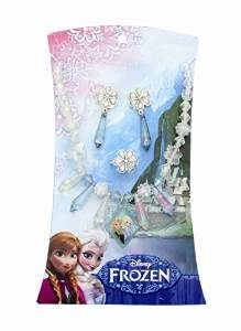 Disney Frozen Beaded Necklace, Earring and Ring Set