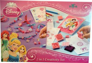 Disney Princess 2 In 1 Creativity Set Make Your Own Ribbon Jewels and Dream Stamps Decoration