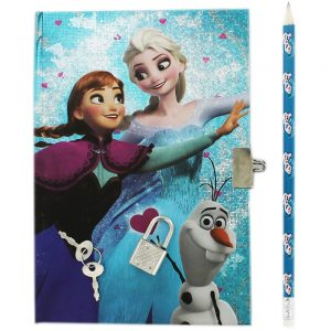 Disney Frozen Secret Notebook With Pencil