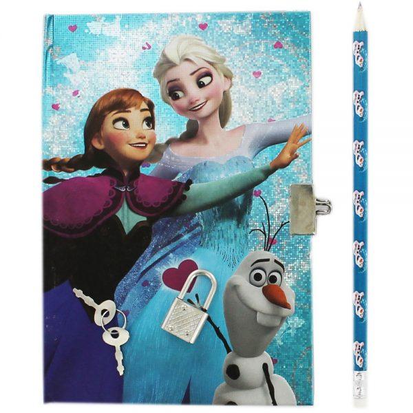 Disney Frozen Secret Notebook With Pencil