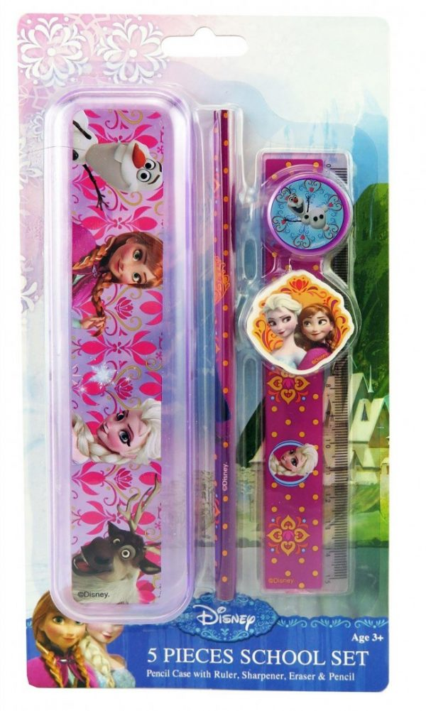 Disney Frozen Anna, Elsa & Olaf 5 Piece School Stationery set