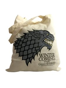 Official Game of Thrones House Stark Tote Bag (Winter is Coming)