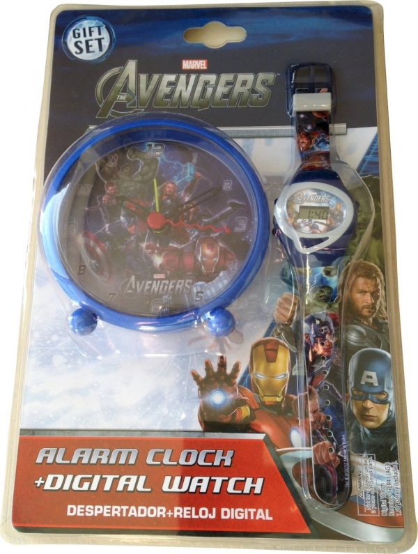 Marvel Avengers Alarm Clock and Digital Watch