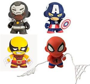 Kidrobot Marvel Mini Munny (Spider-Man, Captain America, Wolverine & War Machine)