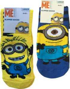 Despicable Me Minions Kids Slipper Socks
