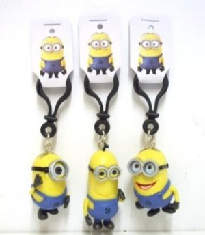 Despicable Me 2 Minions Pvc 3D Bag Clip / Keyrings Dave Stuart Tim