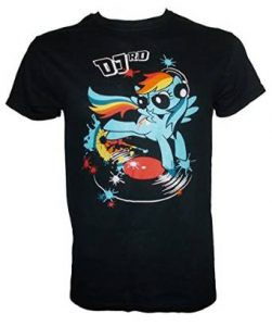 My Little Pony DJ Rainbow Dash Adult Full Colour T-Shirt