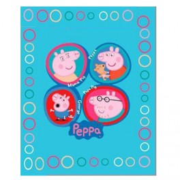Peppa Pig Family Cuddly Fleece Blanket
