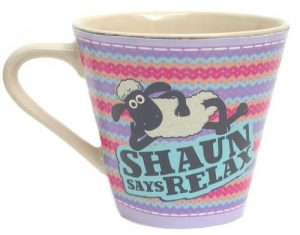 Shaun the Sheep 'Leader of the Flock!' 'Shaun Says Relax' Mug - Official Merchandise from ECP Design