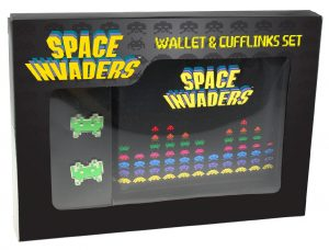 Space Invaders Cufflinks and Wallet in a Set