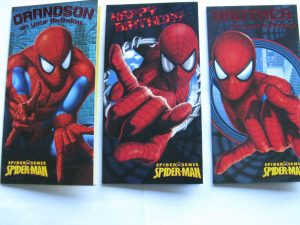 Spider-Man Birthday Cards Mixed Designs Assorted x 100