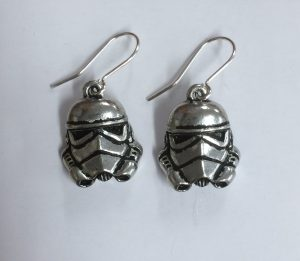 Star Wars Stormtrooper Pewter Earrings