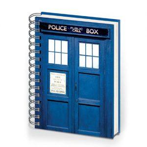Doctor Who A5 Hardback Ring Bound Tardis Notebook