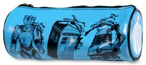 Doctor Who Tardis Cyberman & Dalek Pencil Case