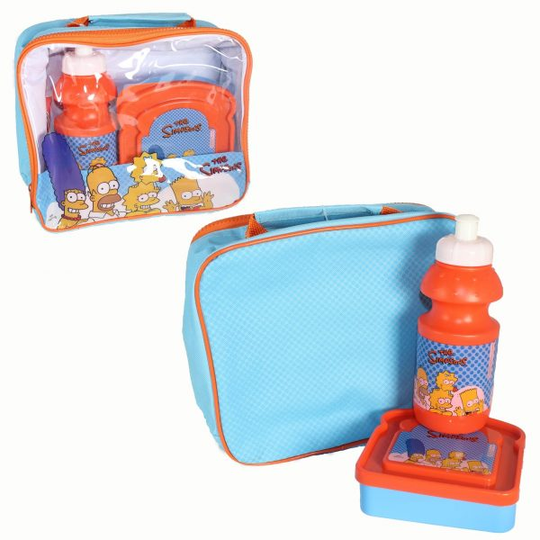 The Simpsons 3 Piece School Set - Lunch Bag, Flask, Sandwich Box