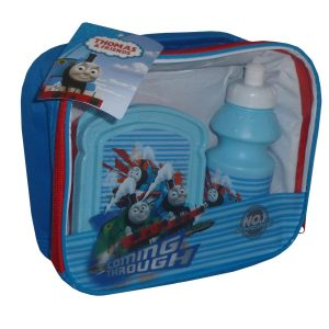 Thomas The Tank Engine 3 Piece School Set - Lunch Bag, Flask, Sandwich Box