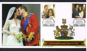 Kate And William Kiss First Day Cover