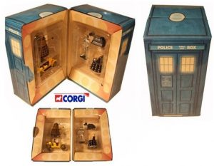 Doctor Who Tardis Corgi Giftbox, Gold Dalek, Cyber Leader, K9, Davros, Bessie & Tom (5,000 Sets)