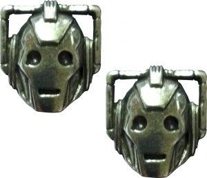 Doctor Who Pewter Earrings - Cyberman