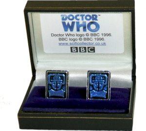 Doctor Who Pewter Cufflinks - Cyberman Logo Design