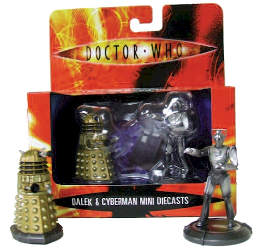 Doctor Who Gold Dalek + Cyberman 2 Inch Diecasts