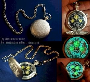 Doctor Who Masters Fob Watch, Metal Working Prop Replica