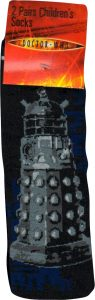Doctor Who Kids Socks - Dalek Design - 2 Pairs
