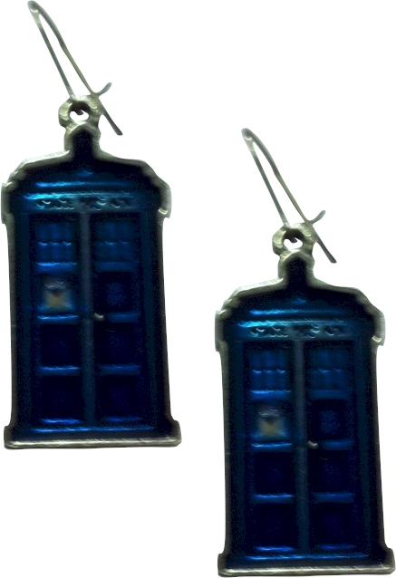 Doctor Who Pewter Earrings - Tardis