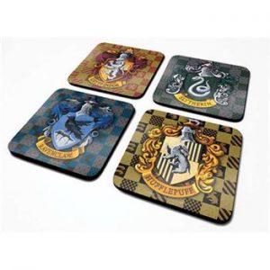 Harry-Potter-House-Crest-Drink-Coaster-Set 1