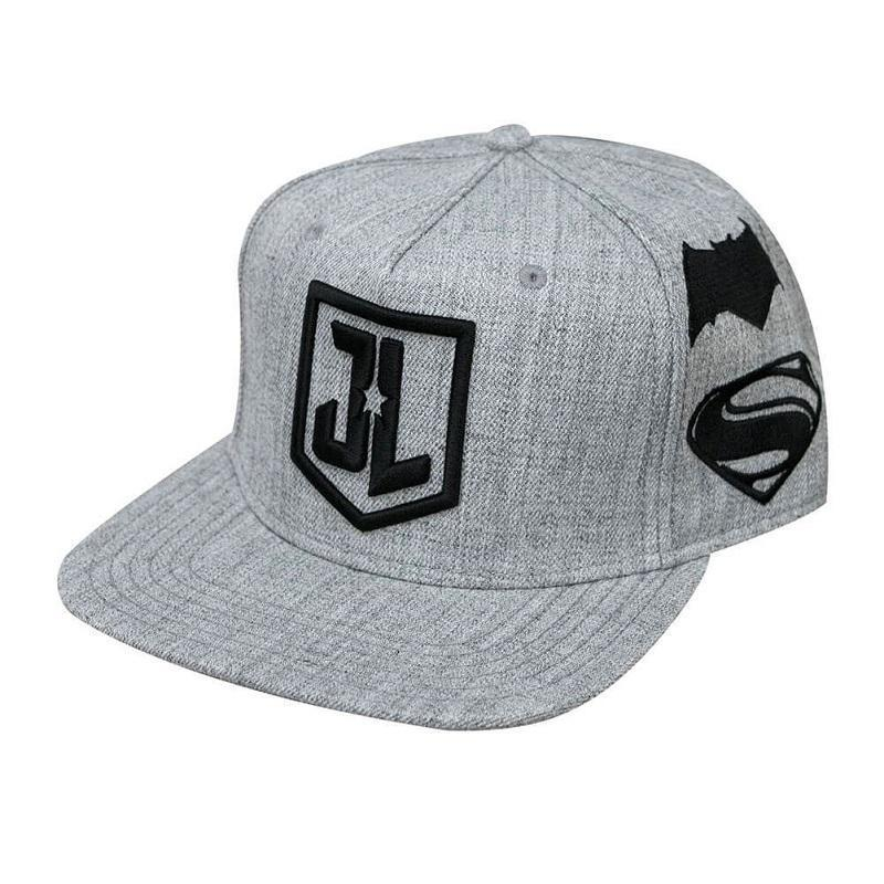 efa169761d4 JUSTICE LEAGUE GREY LOGO SNAPBACK CAP – Get Retro