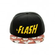 official-dc-comics-the-flash-retro-symbol-snapback-cap-with-printed-visor